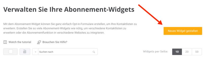 Abonnement-Widgets