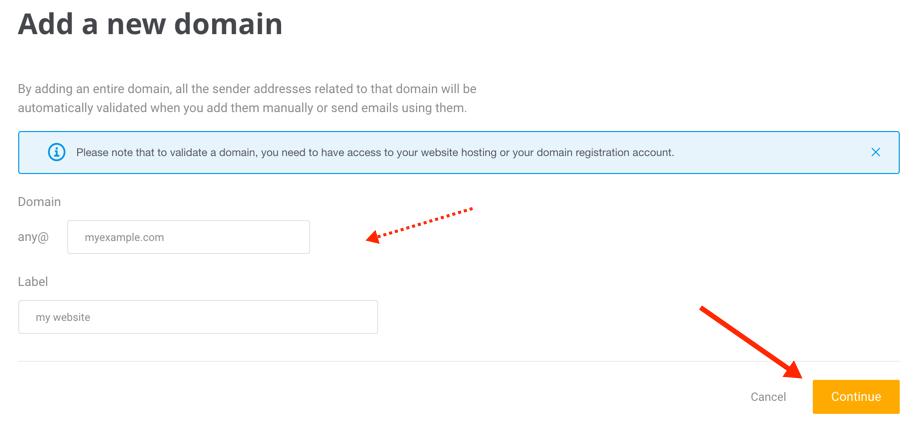 Sender Domain