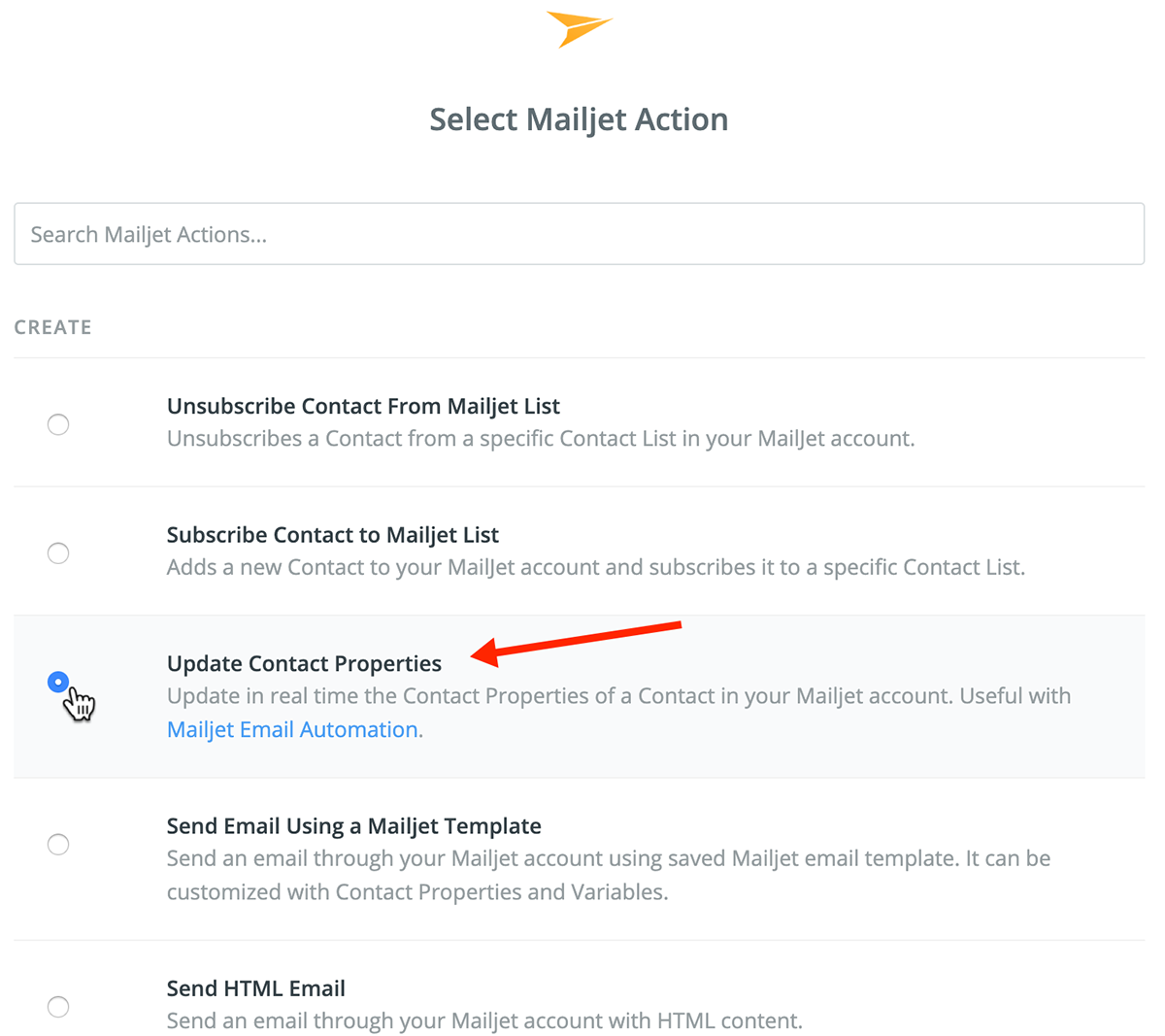 Mailjet Actions