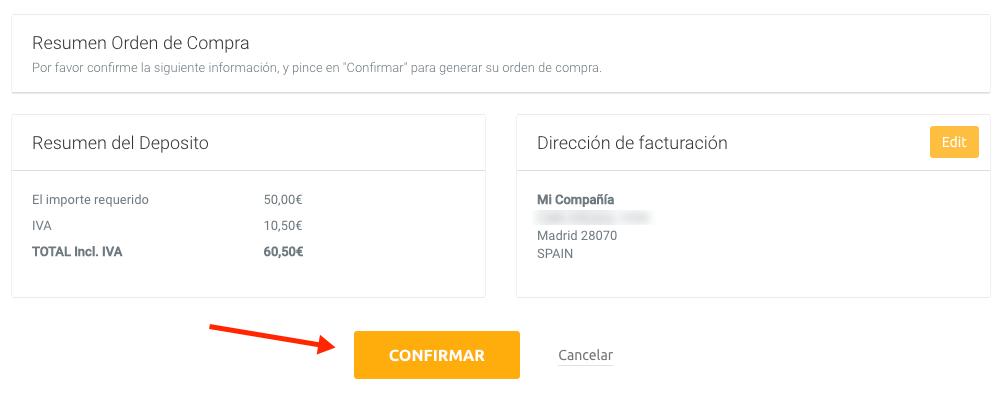 PayPal o transferencia bancaria
