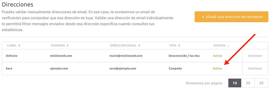 Sender Address