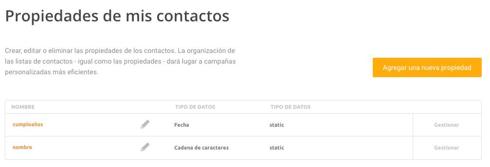 listas de contactos