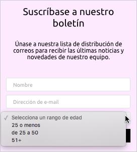 Widget de suscripción