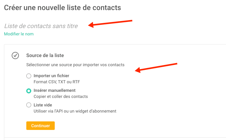 Upload Contacts